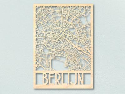 Berlijn Landkaart hout