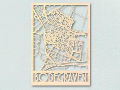Bodegraven Landkaart hout