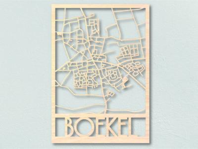 Landkaart hout Boekel