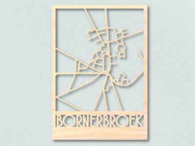 Bornerbroek Landkaart hout