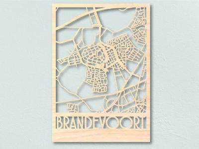Landkaart hout Brandevoort