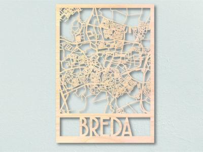 Landkaart hout Breda