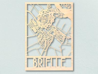 Landkaart hout Brielle