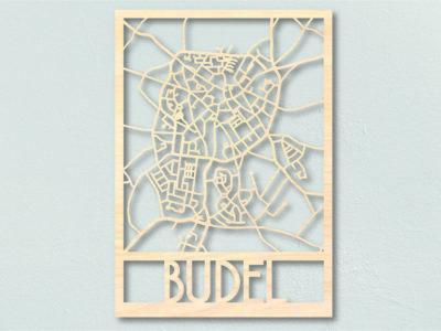 Landkaart hout Budel