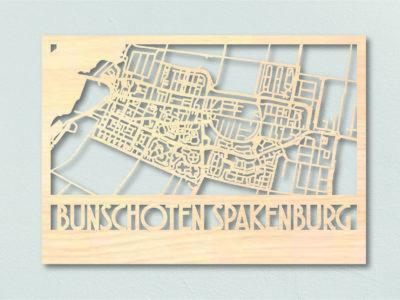 Landkaart Hout Bunschoten Spakenburg