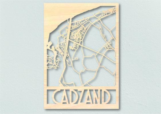 Landkaart hout Cadzand