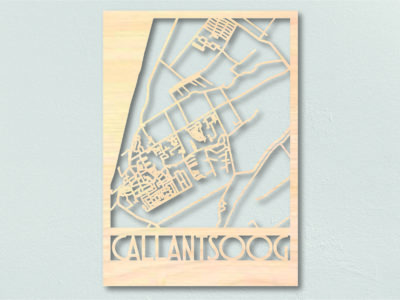 Landkaart hout Callantsoog