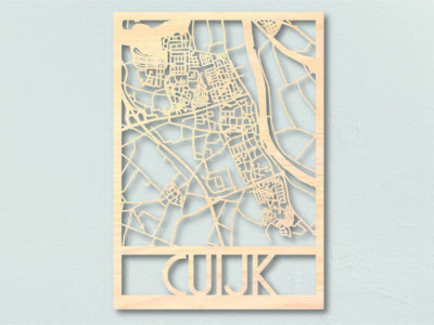 Landkaart hout Cuijk