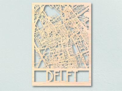 Landkaart hout Delft