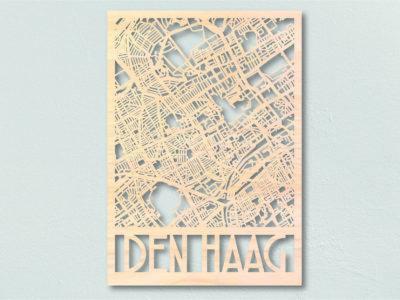 Landkaart hout Den Haag