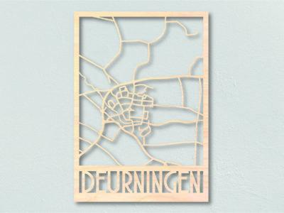 Landkaart hout Deurningen