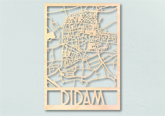 Landkaart hout Didam