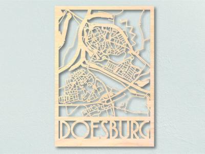 Landkaart hout Doesburg