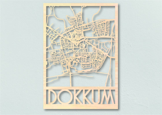 Landkaart hout Dokkum