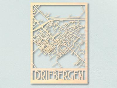 Landkaart hout Driebergen