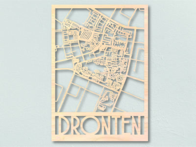 Landkaart hout Dronten
