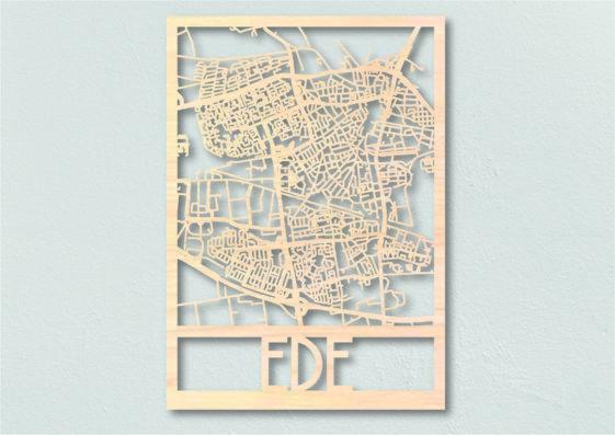 Landkaart hout Ede