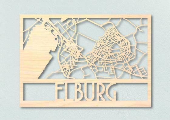 Landkaart hout Elburg