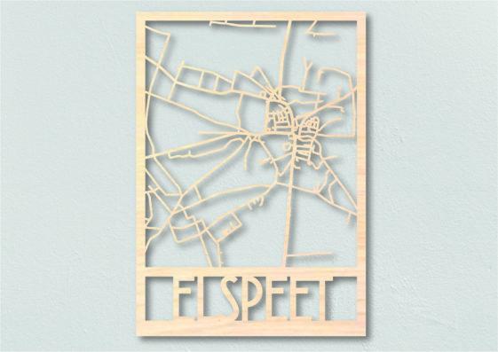 Landkaart hout Elspeet