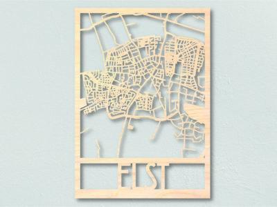 Landkaart hout Elst