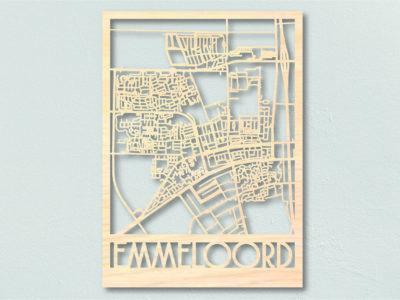 Landkaart hout Emmeloord