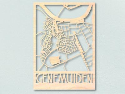 Landkaart hout Genemuiden