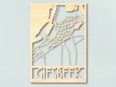 Landkaart hout Giesbeek