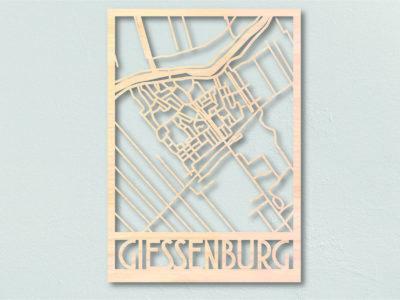 Landkaart hout Giessenburg