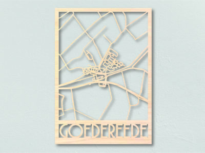 Landkaart hout Goedereede