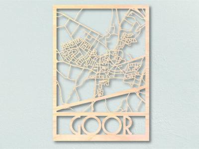 Landkaart hout Goor