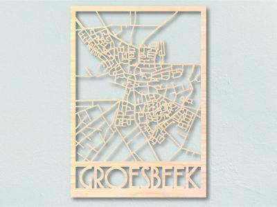 Landkaart hout Groesbeek