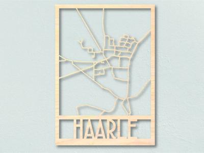 Landkaart hout Haarle plattegrond