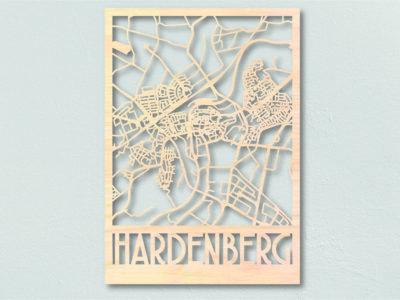 Landkaart hout Hardenberg