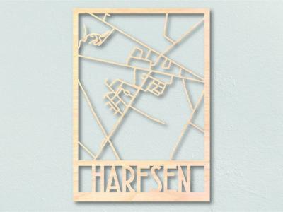 Landkaart hout Harfsen