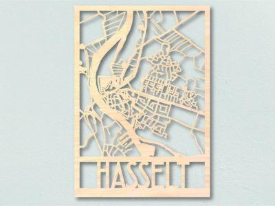 Landkaart hout Hasselt