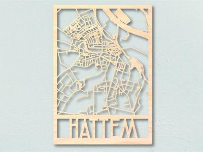 Landkaart hout Hattem