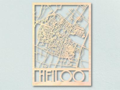 Landkaart hout Heiloo