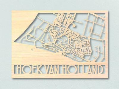 Landkaart hout Hoek van Holland