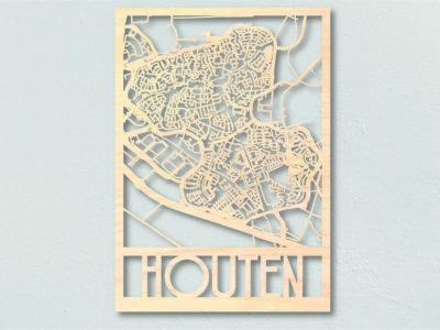 Houten Landkaart hout