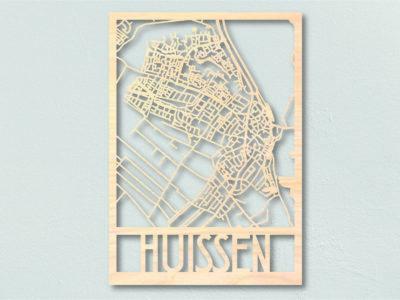 Landkaart hout Huissen