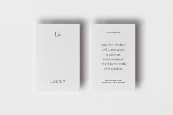 letterpress geboortekaartje Marijn Hermans typgrafisch