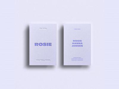 letterpress geboortekaartje typografisch