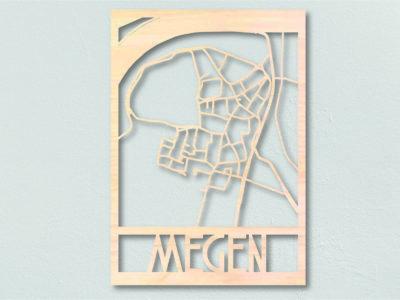 landkaart hout Megen