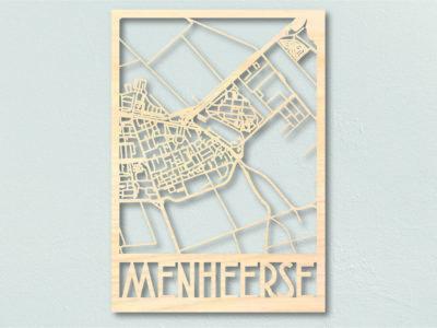 landkaart hout Menheerse