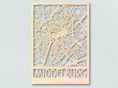 landkaart hout Middelburg