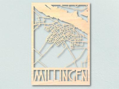 landkaart hout Millingen