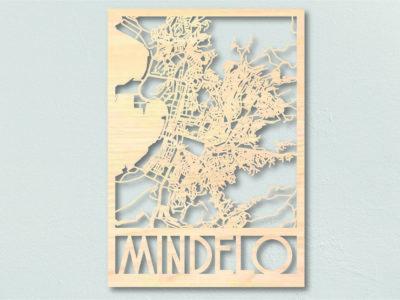 landkaart hout Mindelo