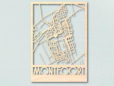 landkaart hout Montfoort
