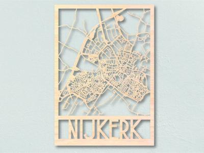 Houten landkaart Nijkerk