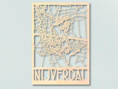 Houten landkaart Nijverdal